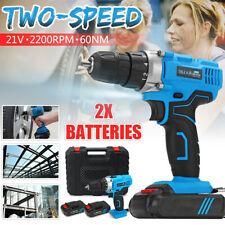 2-Speed Electric Cordless Drill Profession Screwdriver Handy Li-on Battery