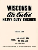 WISCONSIN AA AB ABS ABN AK AKS AKN Engine Parts Manual