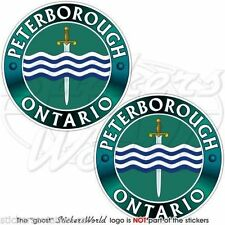 "PETERBOROUGH ONTARIO Canada Canadian Vinyl Bumper Decals, Stickers  3""(75mm) x2"