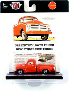 M2 MACHINES 1954 STUDEBAKER 3R TRUCK 🟧 ORANGE PAINT 🟧 1:64 SCALE FREE SHIPPING