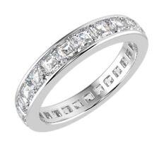 Hallmarked Platinum & Top Quality 2.00Ct  Asscher Cut Diamond Full Eternity Ring