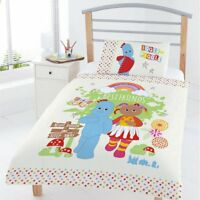 Junior Bed ITNG Duvet Cover In The Night Garden Igglepiggle Friends White