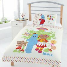 lit junior ITNG Housse de couette in the Night Garden Igglepiggle AMIS blanc
