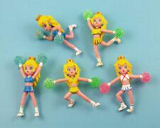 "5PCS/Lot Banpresto Nintendo Super Mario Princess Peach Cheerleader Figures 2.5"""