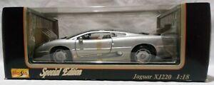 Maisto 1/18 Special Edition 1992 JAGUAR XJ220 Silver Mint Sealed Box 31807 BNIB