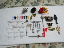 Lot of 42 Vintage Power Rangers Weapons Accessories Helmets Head - Some RARE