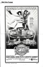CORVETTE SUMMER pressbook, Mark Hamill (Star Wars), Annie Potts, Danny Bonaduce