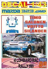 DECAL 1/43 MAZDA 323 4WD T.SALONEN RAC R. 1989 6th (01)