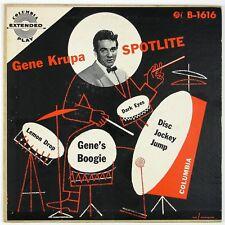 GENE KRUPA & ORCH Spotlite EP B-1616 7IN 1952 JAZZ P/SLVE VG++  NM-