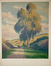 Maximilien LUCE - Lithographie originale signée - Route de campagne