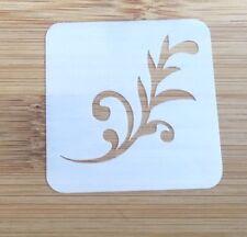 Face paint stencil reusable washable swirly swish  Mylar 4.5 x 4.5 cm