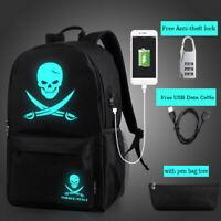 Night Luminous Backpack Boys Girls USB Charging Backpack School Bag Shoulder Bag