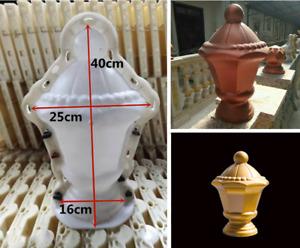 Home Garden DIY Palace Lantern Sculpture Cement Gypsum Concrete Casting Mould