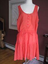 NWT J.Crew HENLEY TANK DRESS Red Size Large item G3629 J