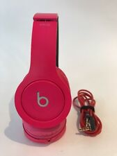 Beats by Dr. Dre Solo HD Drenched Headband Headphones - Pink - Fair Condition