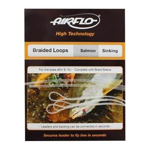 Airflo 3 Pack Salmon Braided Sinking Loops complete with Braid Sleeve Size 8-10+