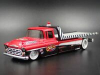 1957 CHEVY CHEVROLET FLATBED RAMP TRUCK TOW TRUCK 1:64 SCALE DIECAST MODEL CAR