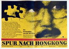 China SPUR NACH HONGKONG original small sheet East German movie poster 1986