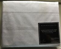 """New Bombay Bath Diamond Shower Curtain 72""""x72""""  White W/ Grommets New In Package"""