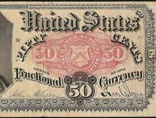 SERIES 1875 FRACTIONAL CURRENCY 50 CENT CRAWFORD NOTE OLD PAPER MONEY Fr 1381