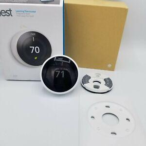 Google Nest Thermostat E360129 3rd Gen Wi-Fi Smart White Model A0013