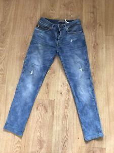 Zara Mens Jeans 30 Pale Blue 30 X 28 Skinny