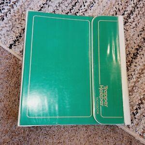 Vintage Mead Trapper Keeper 1980's 3 Ring Binder Folder Portfolio Green