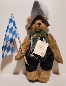 "Hermann - Happy Oktoberfest Bear, LE of 250, Caramel Mohair,16"" tall,  TA w/COA"