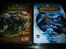 Warcraft  Wrath of the Lich king & mists of Pandaria     PC  game