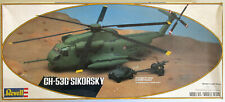 Revell Ch-53G Sikorsky 1/48 Helicopter & jeep 105Mm Howitzer started incomplete