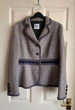Moschino Cheap And Chic 100% Wool Beautiful Purple/ Grey Jacket Size 14