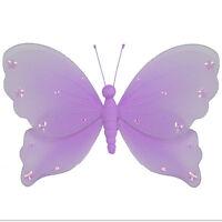 Butterfly Decor Home Purple Wedding Hanging Wall Ceiling Girls Room Baby Nursery