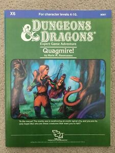 Quagmire Module X6 Dungeons & Dragons Adventure 9081 1984 TSR D&D Expert Game