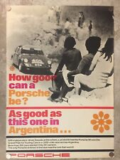 1967 Porsche 911-S Rally of Argentina Victory Showroom Advertising Poster RARE!!