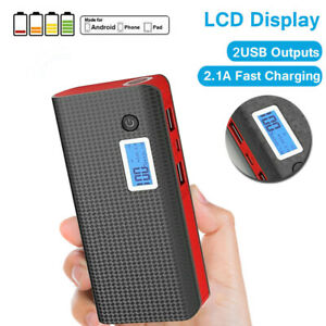 1000000mAh 2USB Power Bank Fast Charging External Battery Pack Portable Charger