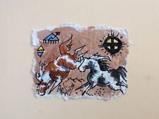 Rock Art Paint/Pinto Ponies Original Watercolor Pat Wiles Horse Horses