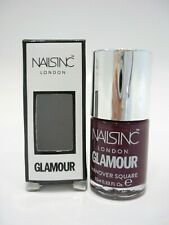 Nails Inc Nail Polish Hanover Square Dark Red Super Glossy 10ml New Varnish