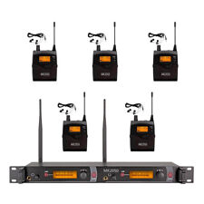 Wireless In Ear Monitor System 5 Receiver 2*40 Channel UHF Professional Audio