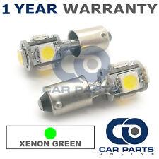 2x XENON verde BA9S T4W 233 LUCI DI POSIZIONE UPGRADE 5 LED SMD LAMPADINE