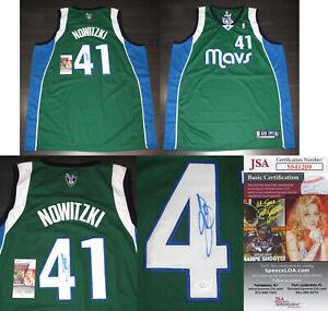 "Rare DIRK NOWITZKI signed Autographed ""DALLAS MAVERICKS"" MAVS JERSEY a JSA COA"