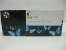 HP 81 Yellow Dye Ink C4933A Genuine 5000 5500 ** SHIPS OVERBOXED ** Date: 2015