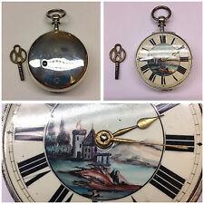 Spindeltaschenuhr Taschenuhr Spindeluhr aus Silber mit Schlüssel