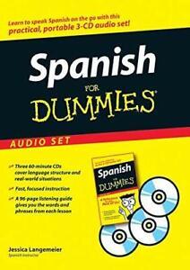Spanish For Dummies Learn to Speak Fluent Language Easy Basic Beginner Audio CD