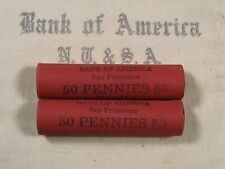 (ONE) BoA SF Lincoln Wheat Cent Penny Roll Lot Old US Coins 1909-1958 P D S (02)
