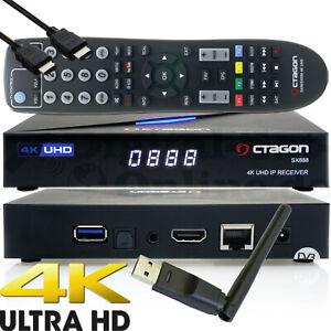 Octagon SX888 IP 4K H.265 Hevc UHD Iptv Set-Top Boîte Stalker Xtream M3U+ WLAN