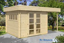 19 mm Gartenhaus Rotterdam/Tuin ca. 400 x 300 cm Blockhütte Gerätehaus Holz