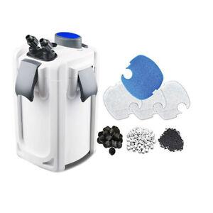 Aquarium Canister Filter 525 GPH 9W UV Sterilizer SUNSUN HW-704B 200G FREE MEDIA