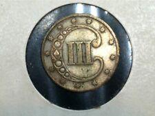 1853 3CS Silver Three Cents Trime KM-75