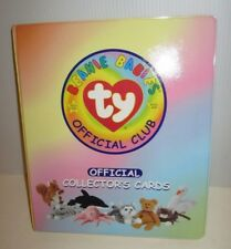 TY BEANIE BABIES OFFICIAL CLUB TRADING CARD BINDER & OVER 100 COLLECTOR CARDS