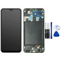 For Samsung Galaxy A20 A205 LCD Display Touch Screen Digitizer with Frame Black
